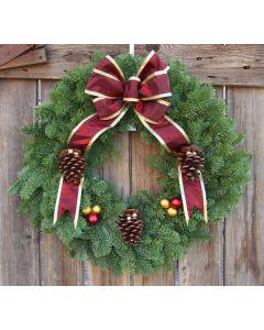 Noble Fir Victorian Wreath