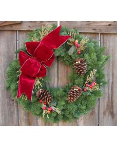 Noble Fir Cranberry Splash Wreath